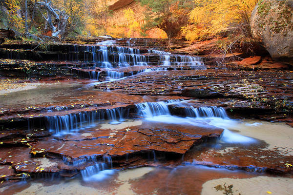 Photograph - Archangel Falls In Zion National Park by Pierre Leclerc Photography