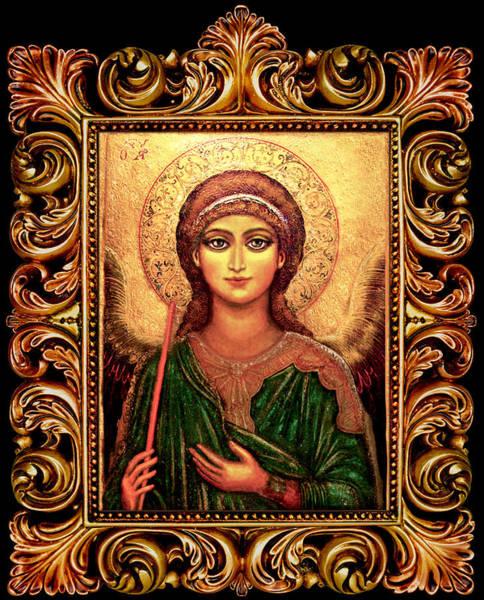 Wall Art - Mixed Media - Archangel Gabriel by Ananda Vdovic