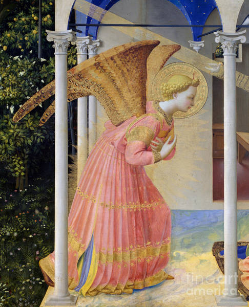 Wall Art - Painting - Archangel Gabriel by Fra Angelico