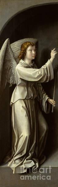 Wall Art - Painting - Archangel Gabriel by Gerard David