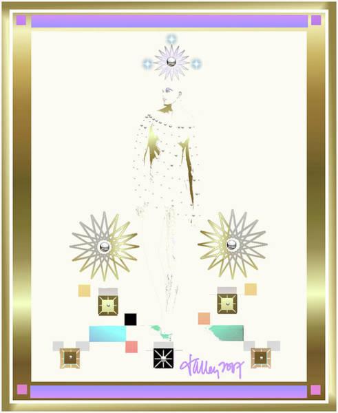 Mixed Media - Archangel Gabriel by Larry Talley