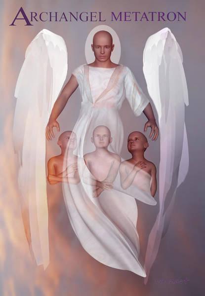 Digital Art - Archangel Metatron by Valerie Anne Kelly