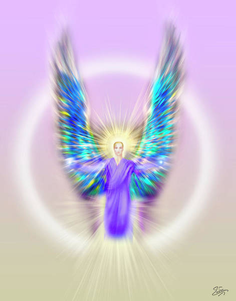 Digital Art - Archangel Michael - Pastel by Endre Balogh