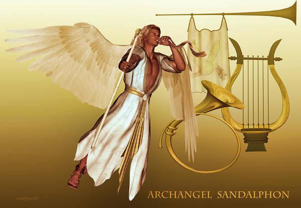Archangel Sandalphon Art Print