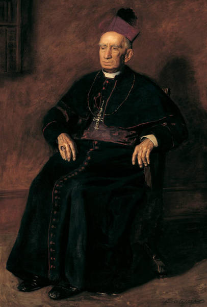 Painting - Archbishop William Henry Elder by Thomas Eakins