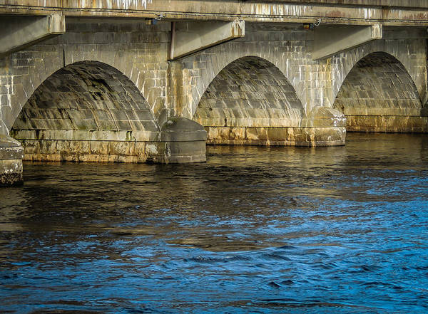 Photograph - Arched Bridge Over Ireland's River Shannon by James Truett
