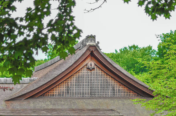 Wall Art - Photograph - Arched Roof - Japanese Garden Philadelphia by Bill Cannon