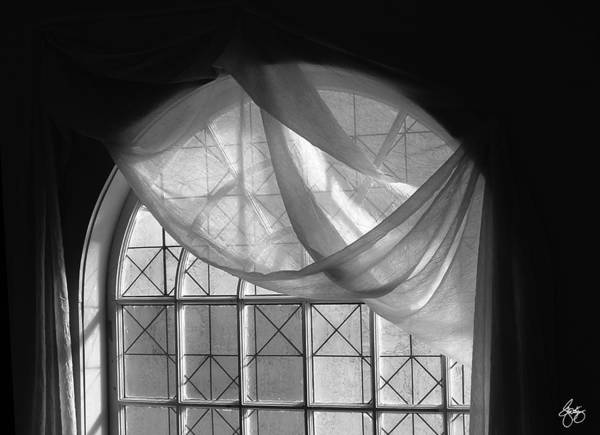 Photograph - Arched Window Monochrome No 1 by Wayne King