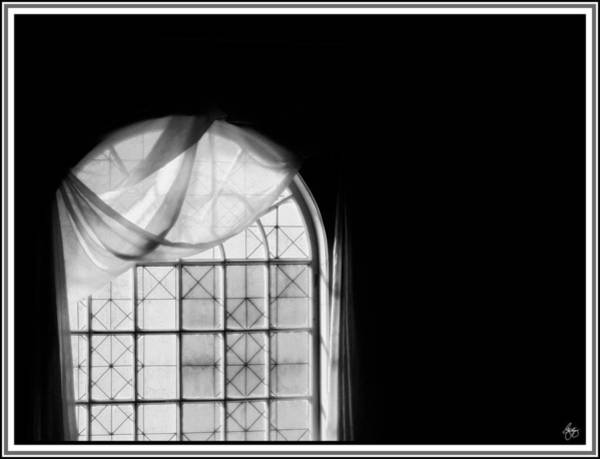 Photograph - Arched Window Monochrome No 2 by Wayne King