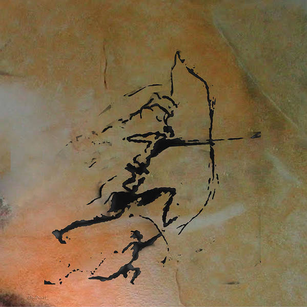 Wall Art - Digital Art - Archers Of Remigia Cave by Asok Mukhopadhyay