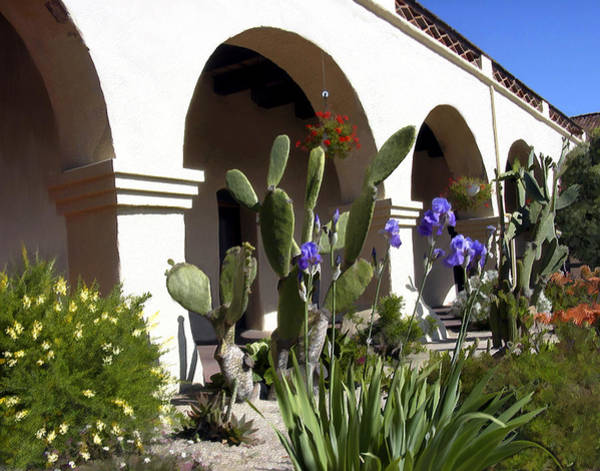 Photograph - Arches Garden Mission Santa Ines by Kurt Van Wagner