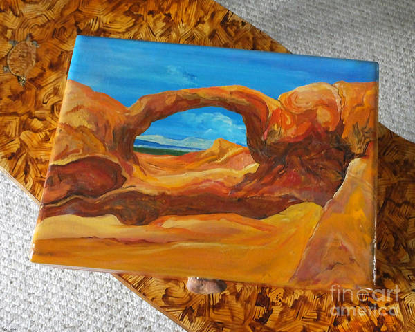 Mixed Media - Arches National Park  Hand Painted Box by Lizi Beard-Ward