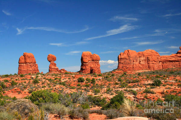 Wall Art - Painting - Arches National Park - Hoodoos Carved In Entrada Sandstone by Corey Ford
