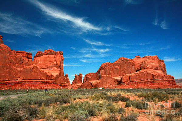 Wall Art - Painting - Arches National Park, Park Avenue by Corey Ford