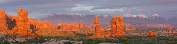 Photograph - Arches National Park Sunset by Aaron Spong