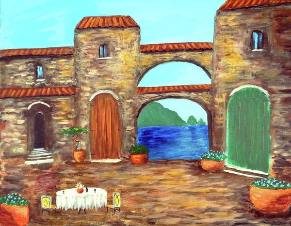 Painting - Arches Of Amalfi  by Larry Cirigliano