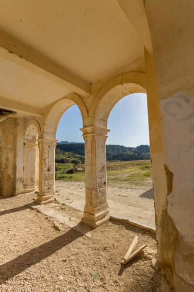 Stone Wall Art - Photograph - Arches Of Derelict Agios Georgios Church by Iordanis Pallikaras