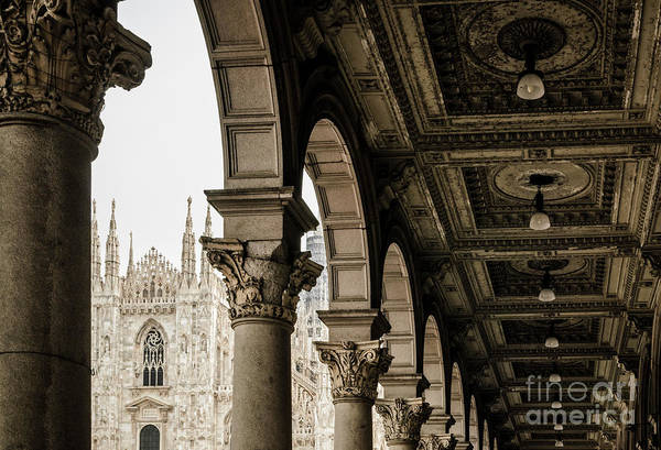 Wall Art - Photograph - Arches Of The Piazza Del Duomo In Milan by Jason Knott