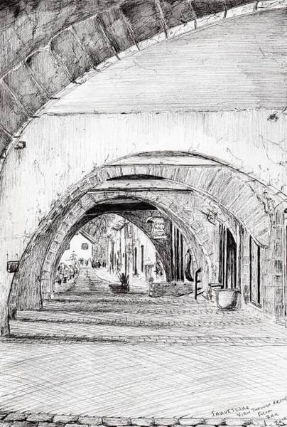 Structure Drawing - Arches Sauveterre France by Vincent Alexander Booth
