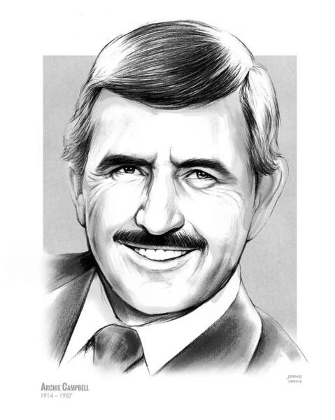 Writer Wall Art - Drawing - Archie Campbell by Greg Joens