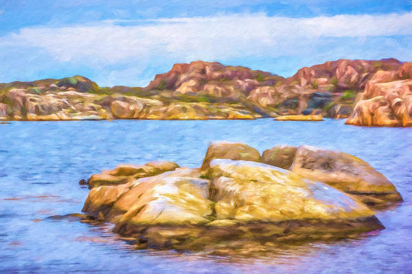 Painting - Archipelago Seascape by Lutz Baar