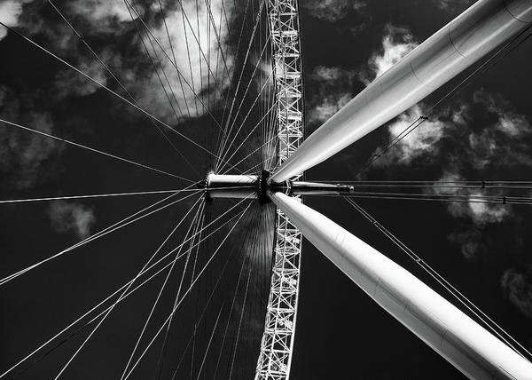 Outdoor Wall Art - Photograph - Architectural Details Of The Metallic Structure Of A Ferris Whee by Michalakis Ppalis