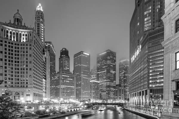 Photograph - Architectural Image Of The Chicago River And Skyline From The Wrigley Building - Chicago Illinois by Silvio Ligutti