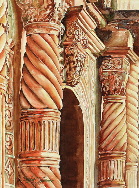Carving Painting - Architectural Immersion by Carolyn Coffey Wallace