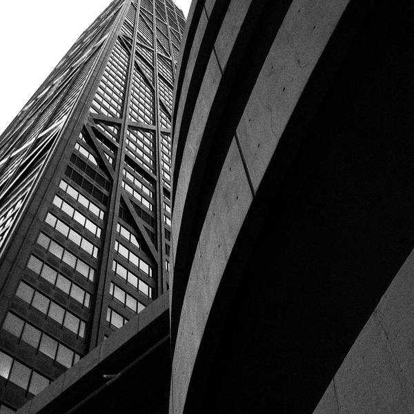 Photograph - Architectural Lines Hancock Building by Patrick Malon