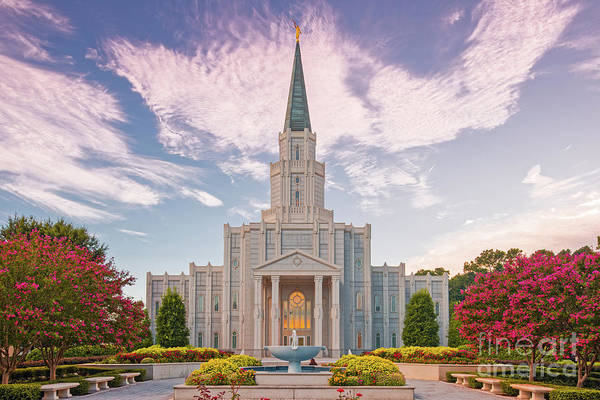 Wall Art - Photograph - Architectural Photograph Of Houston Latter Day Saints Temple In Champions Forest - Lds Church Texas by Silvio Ligutti