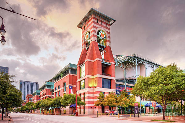 Photograph - Architectural Photograph Of Minute Maid Park Home Of The Astros - Downtown Houston Texas by Silvio Ligutti