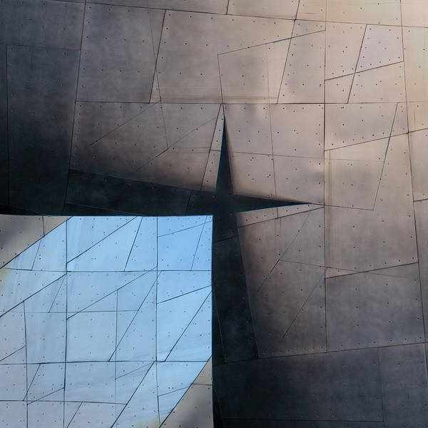 Contemporary Architecture Photograph - Architectural Reflections 4619a by Carol Leigh