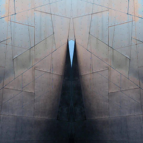 Contemporary Architecture Photograph - Architectural Reflections 4619j by Carol Leigh