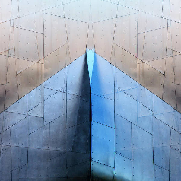 Contemporary Architecture Photograph - Architectural Reflections 4619l by Carol Leigh