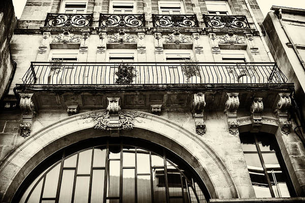 Photograph - Architecture In France - Sepia by Georgia Fowler