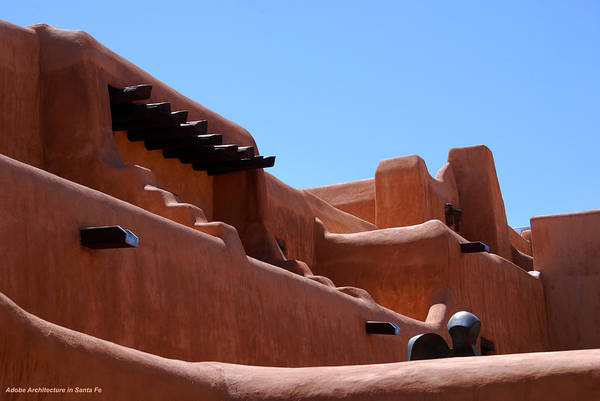 Photograph - Architecture In Santa Fe by Susanne Van Hulst