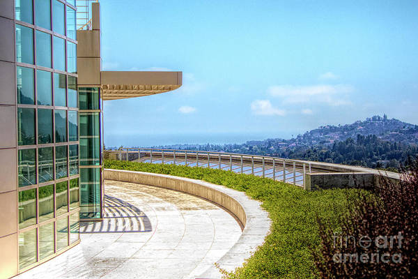 Wall Art - Photograph - Architecture J. Paul Getty Museum California  by Chuck Kuhn