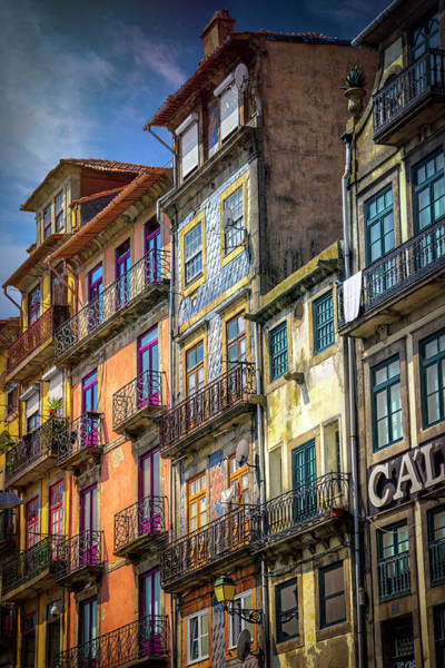 Balcony Photograph - Architecture Of Old Porto Portugal  by Carol Japp