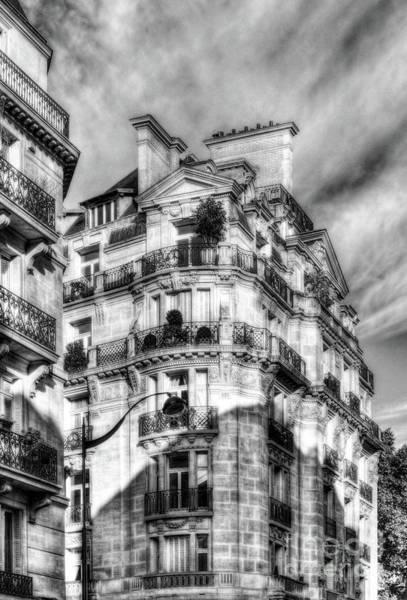 Photograph - Architecture Of Paris Bw by Mel Steinhauer