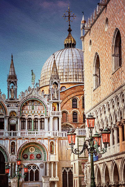 Italia Photograph - Architecture Of St Marks Square Venice Italy  by Carol Japp