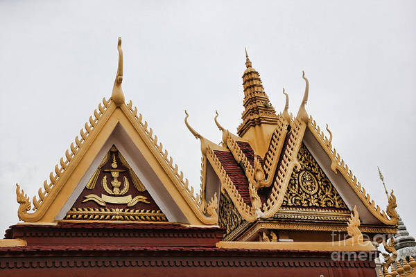 Phnom Penh Photograph - Architecture Royal Palace by Chuck Kuhn