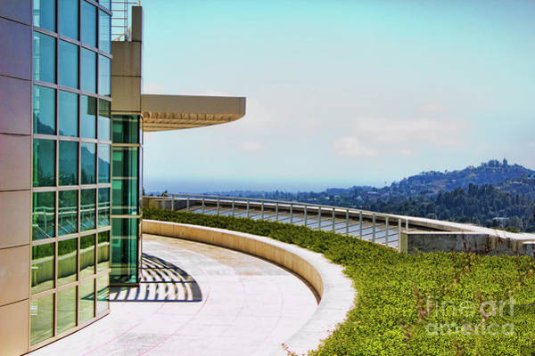 Wall Art - Photograph - Architecture View Getty Los Angeles  by Chuck Kuhn
