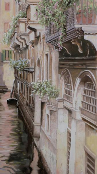 Gondola Painting - architetture di  Venezia by Guido Borelli