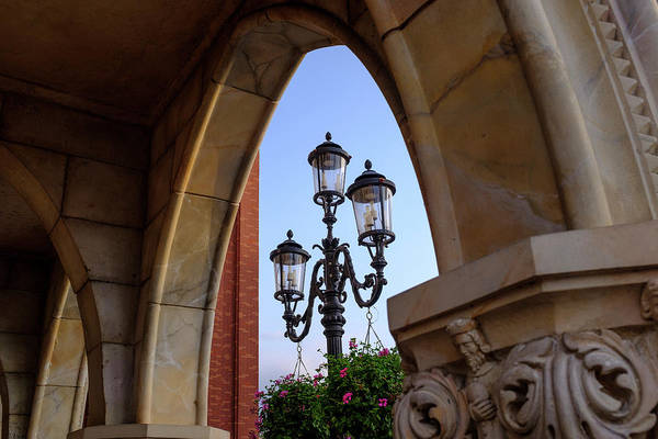 Archway And Lights In Orlando Florida Art Print