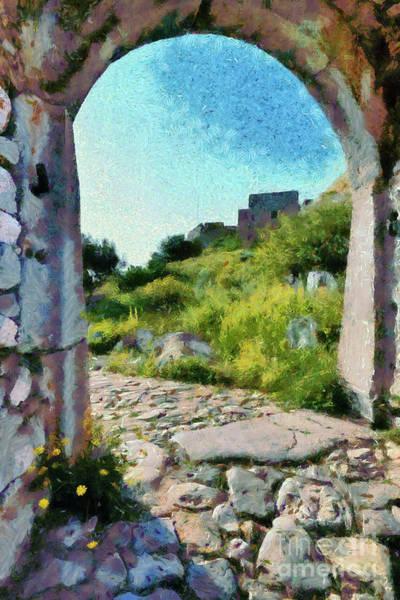 Peloponnese Painting - Archway On Palamidi Castle by George Atsametakis