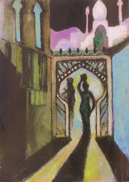 Baghdad Painting - Archway by Walter Clark