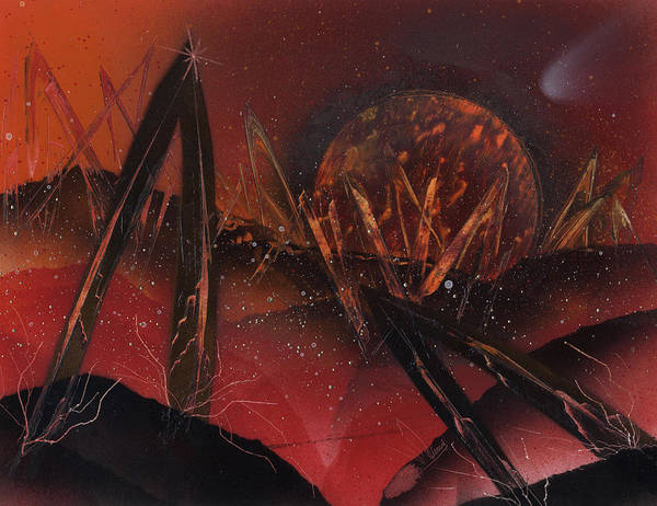 Painting - Archways On Asteroids by Jason Girard