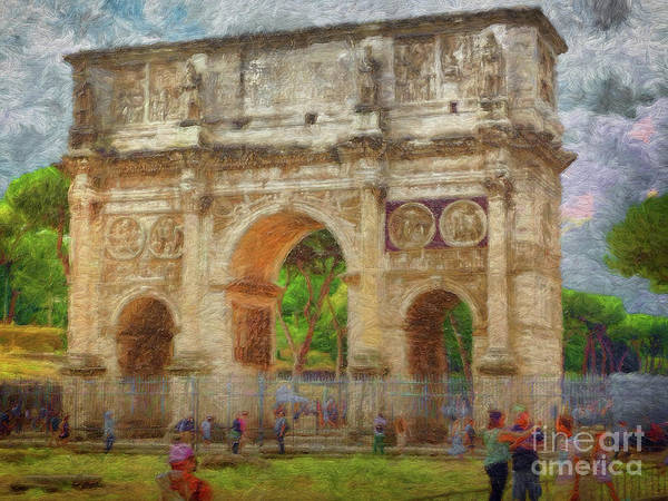 Digital Art - Arco Di Costantino Rome by Leigh Kemp