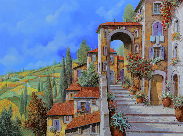Vacations Wall Art - Painting - Arco Dopo Le Scale by Guido Borelli