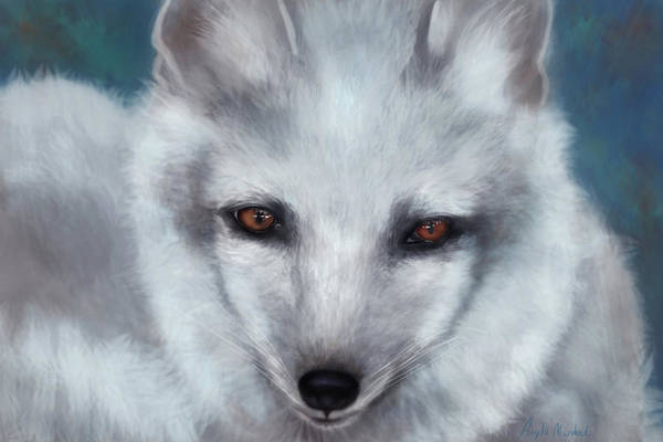 Digital Art - Arctic Fox Portrait by Angela Murdock